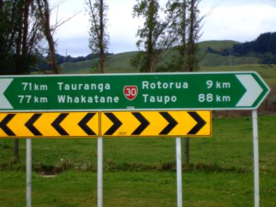 Driving directions to Rotorua, NZ