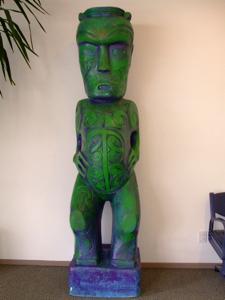 Maori carving at the Rotorua Airport