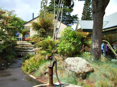 Courtyard at the Buried Village of Te Wairoa