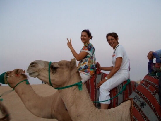 Camel riding in the UAE