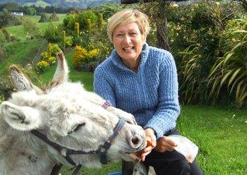 Rotorua Bed and Breakfasts - Christine Doolan and donkeys.