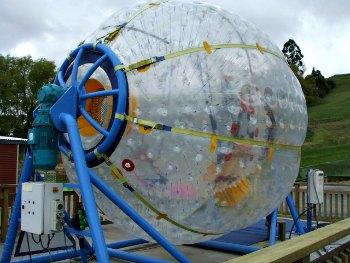Ogo Rotorua - Fishpipe water barrel ride.