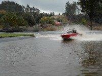 Jet boating at Agroventures, Rotorua, NZ
