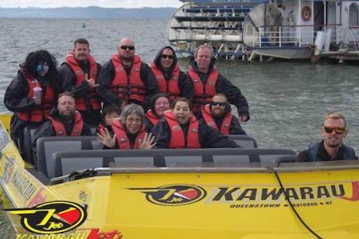 Getting ready to head out on a Katoa Lake Rotorua jetboat ride.