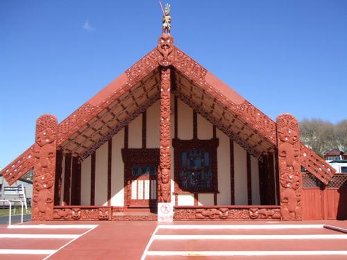Tama-te-kapua Meeting House at Ohinemutu, Rotorua, New Zealand