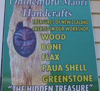 Ohinemutu Maori Handcrafts sign