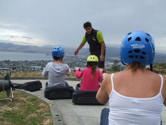 Luge Rotorua - And they're out the gate.