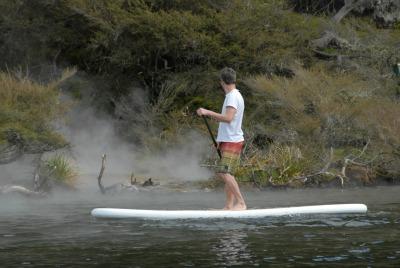 Rotorua Paddle Tours - cruising near therma