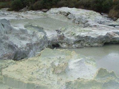 Sulphur rocks at Hells Gate, Rotorua