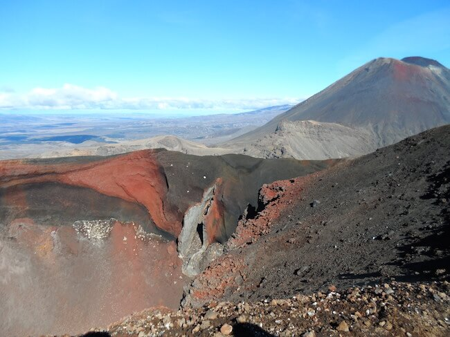 Red Crater on the Tongariro Crossing, New Zealand.