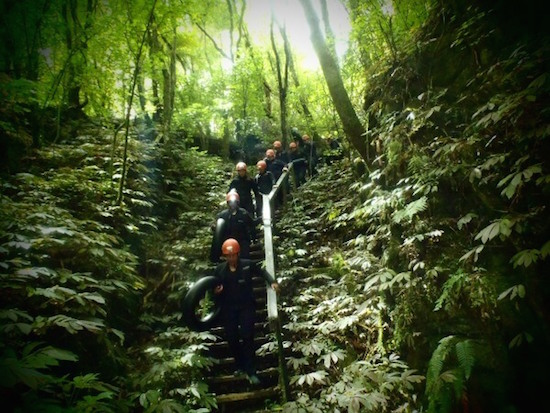 Descent for Waitomo Black Water Rafting