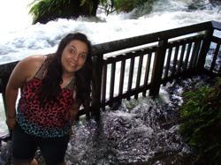 Okere Falls, Rotorua, NZ - Kaituna in flood.