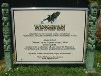 Wingspan sign at Rotorua, NZ
