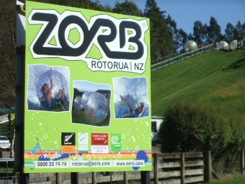 Rotorua Zorbing is so much fun.
